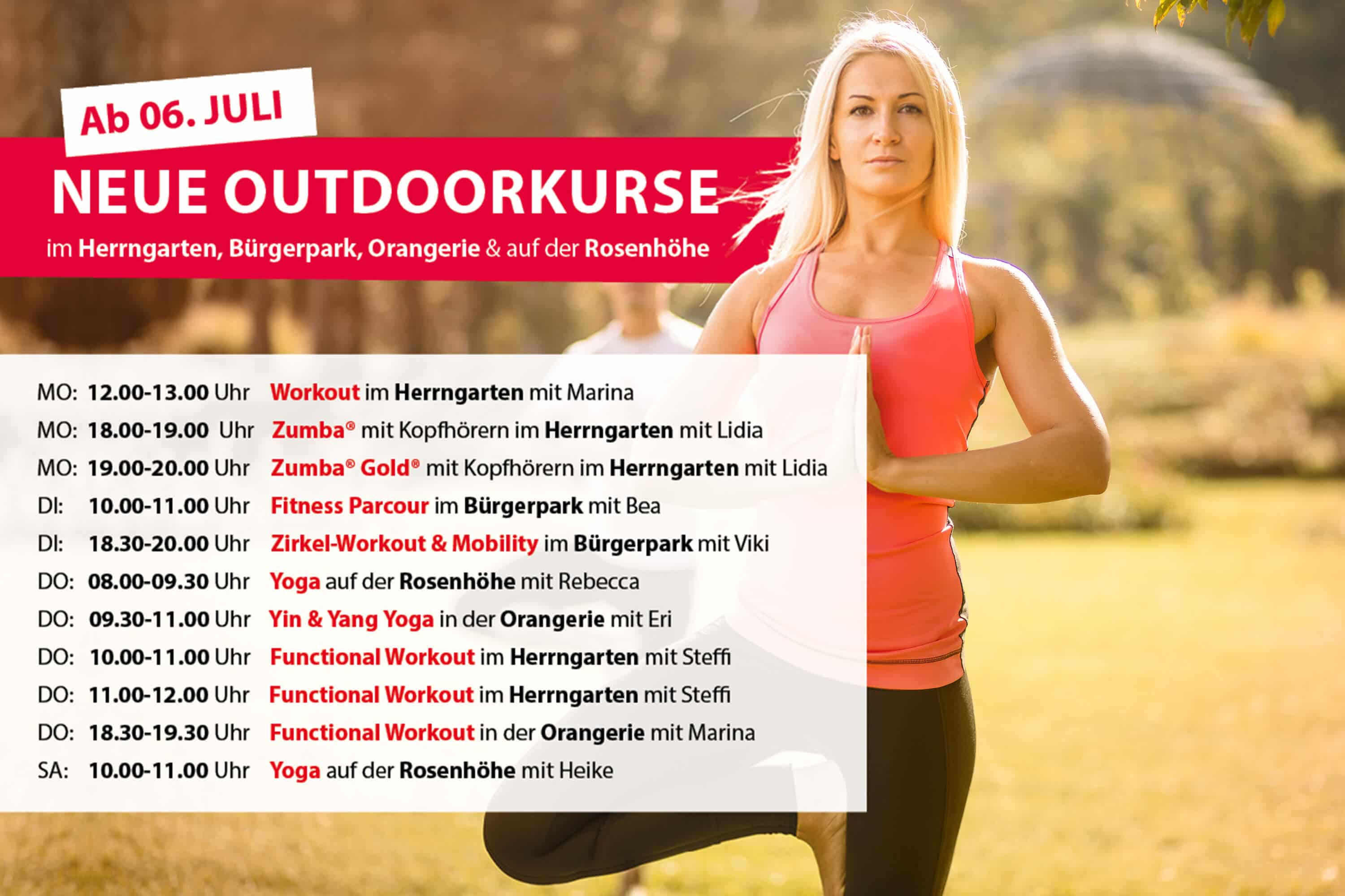 Outdoor Kursplan Body Culture Fitnessstudio Darmstadt