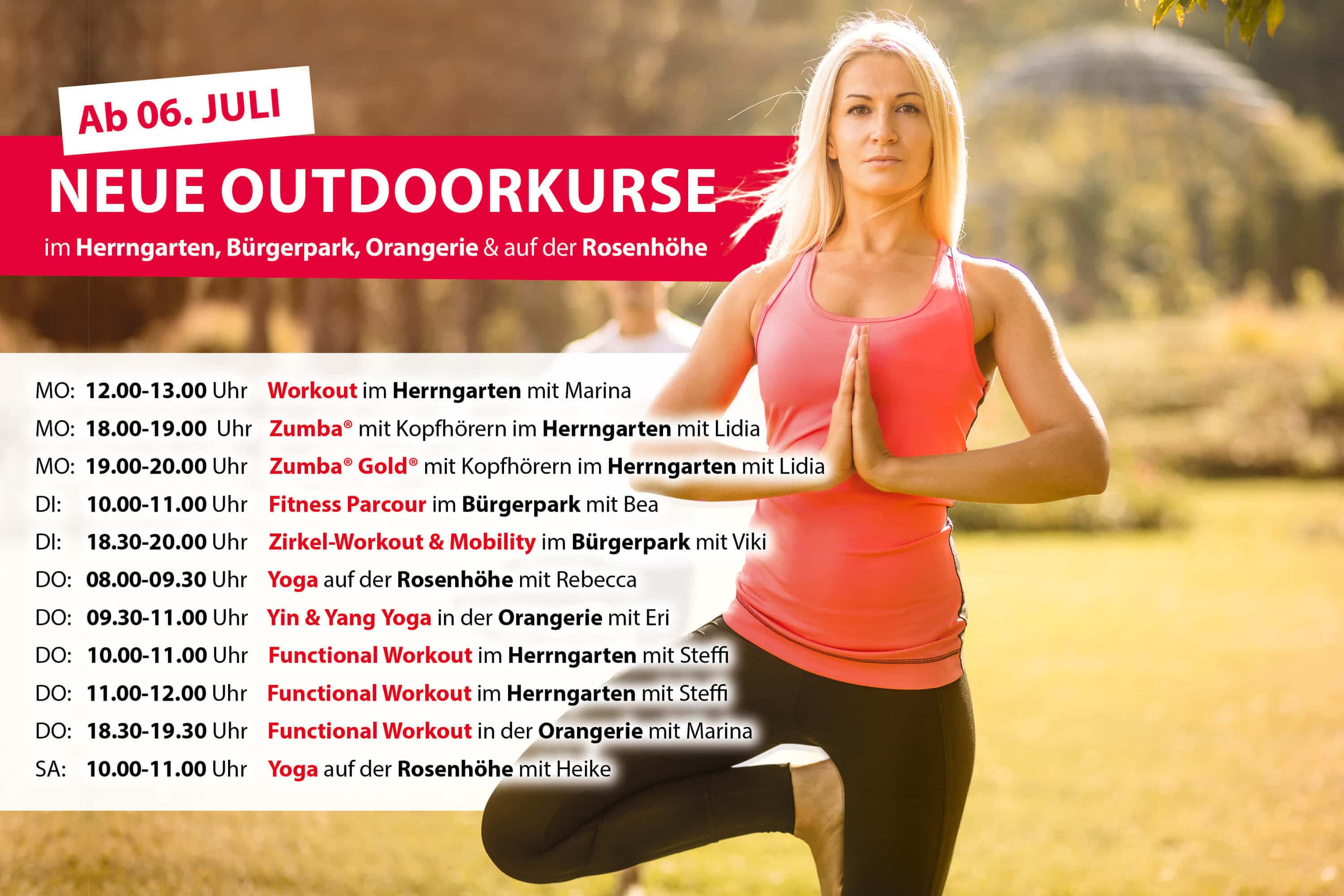 Outdoor Kursplan Body Culture Darmstadt
