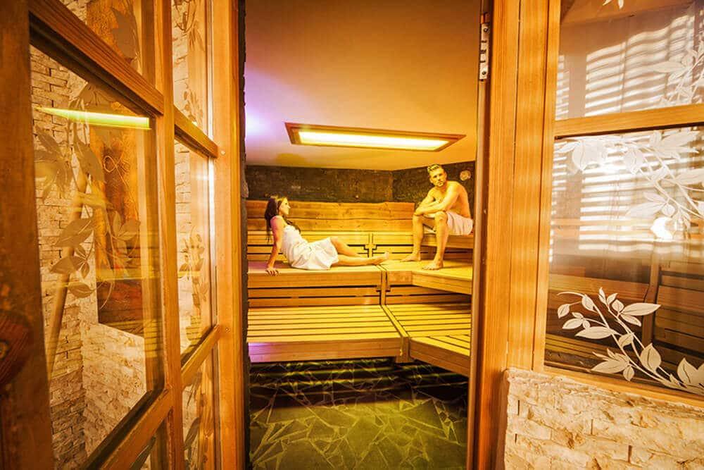 Saunabereich im Body Culture Fitnessstudio in Darmstadt